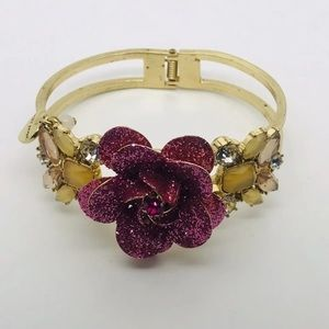 Betsy Johnson Flower Clamper Bracelet